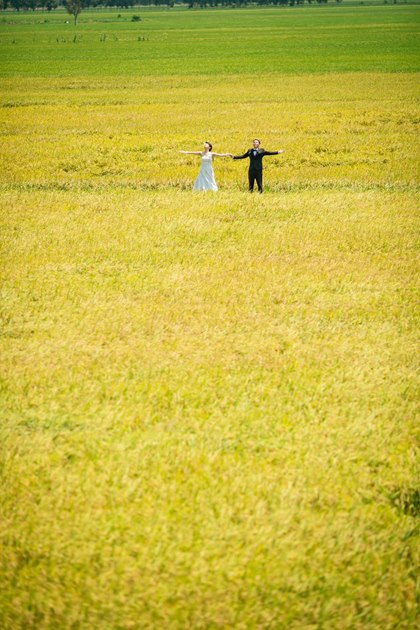 Sweet wedding photos of a Japanese -1