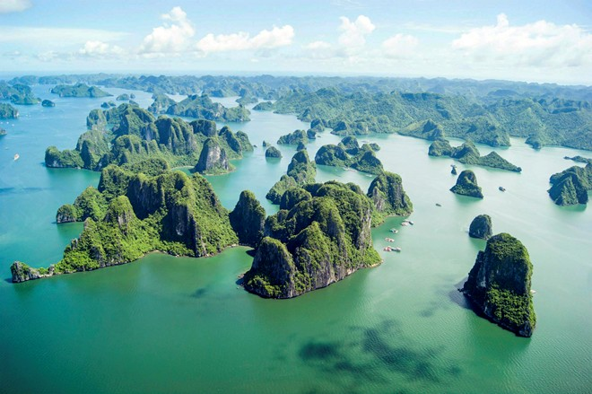 Majestic Ha Long Bay viewed from a seaplane-11
