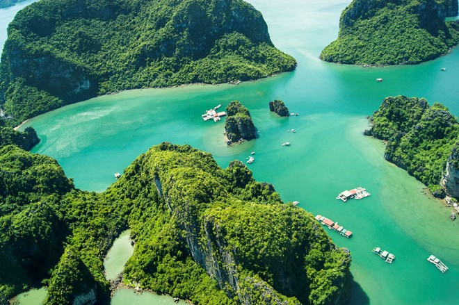 Majestic Ha Long Bay viewed from a seaplane-12