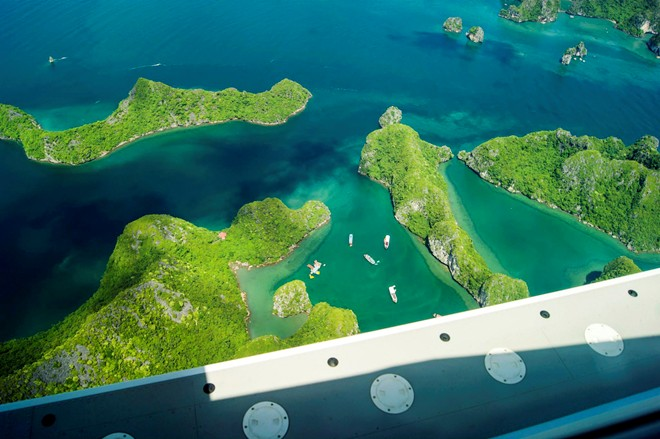 Majestic Ha Long Bay viewed from a seaplane-3