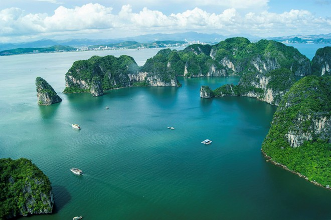 Majestic Ha Long Bay viewed from a seaplane-5