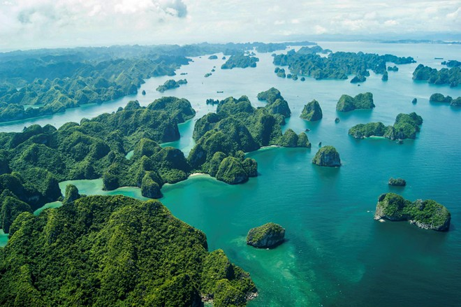 Majestic Ha Long Bay viewed from a seaplane-9