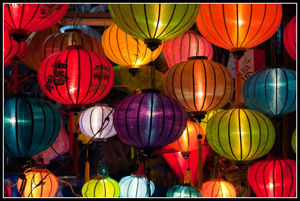 Lanternes de Soie, Hoi An, Vietnam