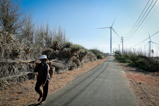 Первый проект энергии ветра на острове.