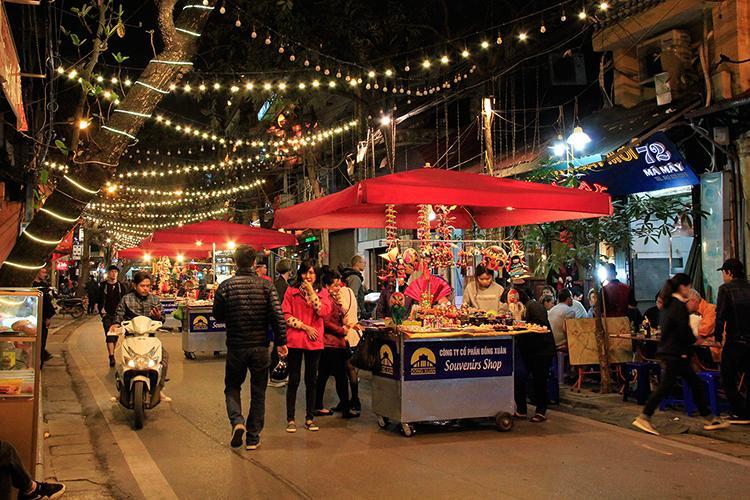 Marché Hanoi Nuit