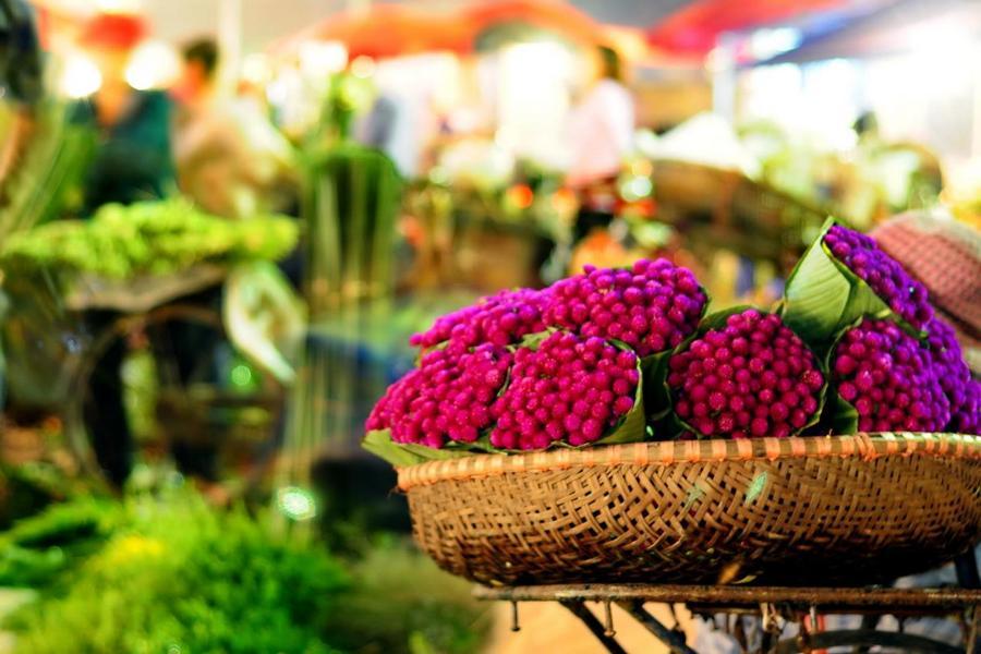 les marchés locaux à Hanoi