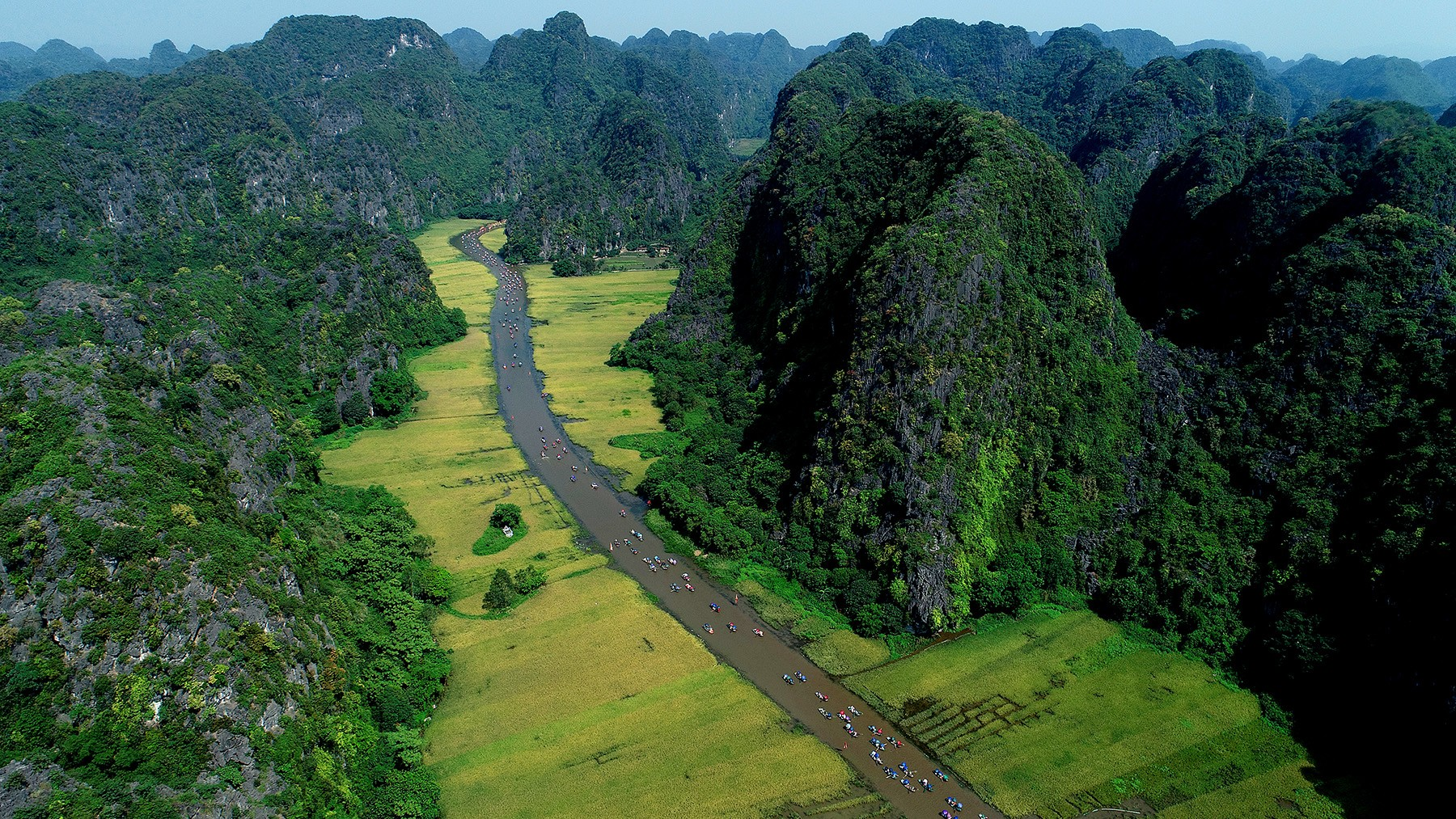 The beauty of Tam Coc captured from above.