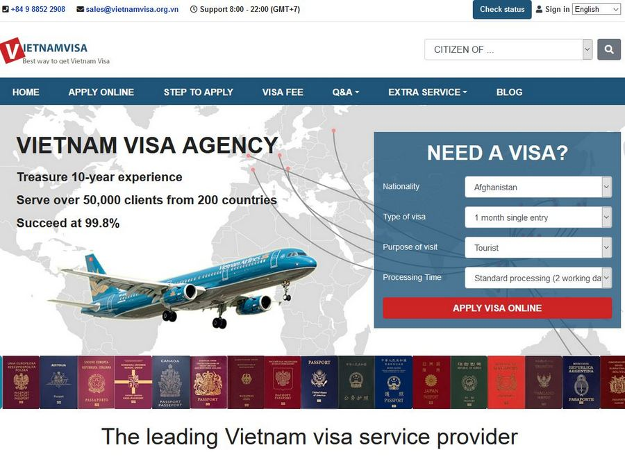 Vietnam Visum online beantragen